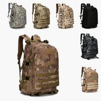 Wholesale waterproof backpack camouflage - Outdoor Sports 40L 3P Military Tactical Backpack Oxford Waterproof Camouflage Camping Bag Hiking Bag Rucksacks Trekking Bag Should Bags