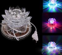 led lotus kristal lamba toptan satış-Led küçük güneş lotus lambası renkli balo salonu etkisi ışık kristal lotus LED ışık lotus lambası AC85V-250V
