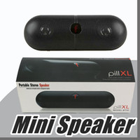 Wholesale super bass mp3 player online - Pill XL Bluetooth Mini Speaker Protable Wireless Stereo Music Sound Box Audio Super Bass TF Slot Hands free MP3 Player With b f LOGO E YX