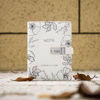 Wholesale school notebook a5 - Kawaii Cute A5 Spiral Notebook PU Planner Divider Personal Travel Password Diary Lock Journal Note Book Office School Stationary