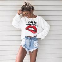 Wholesale Dovetail Shirts - Black White Hoodies Women Oversized Sweatshirt Ladies Loose Casual Long Sleeve Pullover Shirt Dovetail O Neck Jumper