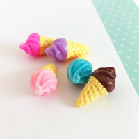 Wholesale cute ice cream accessories - rafts accessories Tanduzi Resin Simulation Food D Cute Ice Cream Dollhouse Miniature Decoration Accessories Resin