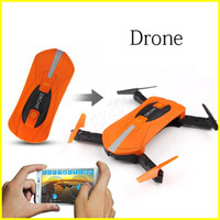 Wholesale wholesale professional rc - JY018 Pocket RC Drone WiFi FPV Quadcopter Mini Foldable Selfie Drone RC Drones with 2 million Camera HD FPV Professional H37 720P