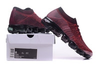Wholesale box for bowtie - 2018 New VaporMax Men's sneakers for casual Casual shoes Knitting Fashion Outdoor Trainers Athletic Sport Shoe Full Palm Cushion(with box)