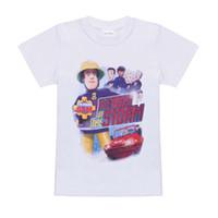 Wholesale fireman t shirts - New Arrival FIREMAN SAM 2017 Kids Summer Clothes Sets Cartoon Printed T-Shirt+ Pant Kids Boy Clothing 2 PCS Set Children suit