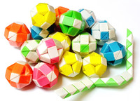 Wholesale puzzle pieces for sale - 80 PIECE Plastic Magic Folding Snake Puzzle Ball Block Girl Boys Kids Pinata Bag Filler Birthday Party Favors Gift Novelty Prize