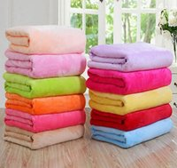 Wholesale Pet Flannels - Flannel Blanket Air Conditioning blanket Comfortable Carpet Rugs Soft Pet Blanket Beach Towel Blankets Small blankets Gift KKA3983