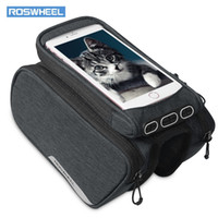 Wholesale roswheel frame bag resale online - ROSWHEEL Bike Frame Bag Cycling Top Tube Pannier with Cell Phone Holder also comes with magic stickers