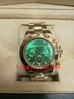 Wholesale Choice Watches - 2018 AAA good choice 40MM automatic movement gentlemen mens watch watches wristwatch green dial gold watchband gift