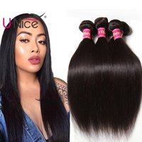 Wholesale unice hair for sale - UNice Hair Virgin Brazilian Straight Bundles Brazilian Human Hair Extensions Human Hair Weave Bundles inch Cheap Bulk