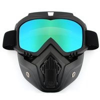 Wholesale Gear Drives - New Riding Detachable Mask Goggles Motorcycle Goggles Protective Glasses Fashion Cycling Masks Drive Skiing Outdoor Protective Gear