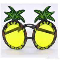 vasos de fruta al por mayor-Forma de fruta Gafas de sol de piña Oferta de fiesta de la novedad de Halloween Vestido hawaiano Gafas de Navidad Divertido interesante Shinning para niños Diversión de adultos