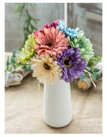 pro blumen großhandel-Brautstrauß Hochzeitsgesellschaft DÉCor Braut Holding Blumen 7 pro Los Bunte afrikanische Daisy Heronsbill Künstliche Blumen Hochzeit Requisiten