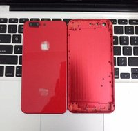 Wholesale iphone back side - For iPhone 6 6S 7 Plus Full Red Back Housing to iPhone 8 Style Metal Glass Rear Cover with Side Keys Like 8+