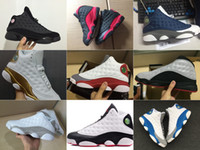 Wholesale high cat shoes - 2018 with Box New Mens And Womens Basketball Shoes Sneakers for Men and Women 13S Black Cat Chicago Red French Blue Bred High