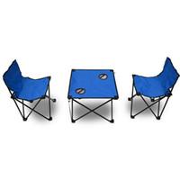 ingrosso kit da tè-Sedia da tavolo casual Set Pratico Oxford Cloth Foldabke Tea Tables Set di sedie per picnic all'aperto Forniture di alta qualità 55sm B