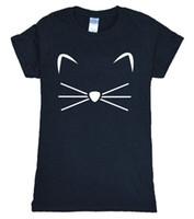 figura vaquinha venda por atacado-T das mulheres 2017 Verão Kitty Gatinho Meow Impressão Kawaii T Shirt Wome Camisa Engraçada Figuras da vara T Bonito Camisa Das Mulheres Marca de Moda Harajuku Tops