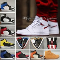 Wholesale metallic threads - 1 Top 3 Men Basketball Shoes Wheat Gold Bred Toe Chicago Banned Royal Blue Metallic Red Fragment UNC Shattered Backboard Sneakers trainers