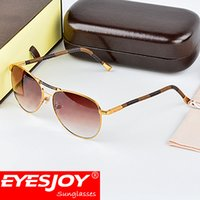 Wholesale Copper Legs - fashion luxury sunglasses brand designer lens logo square metal frame wood legs vintage style outdoor classical model top quality with box