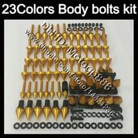 kit de tornillos gsxr al por mayor-Kit completo de tornillos de carenado Para SUZUKI GSXR600 GSXR750 06 07 GSXR 600 750 K6 GSX R600 R750 2006 2007 Tuercas de cuerpo tornillos tuercas kit de tornillos 23Colores