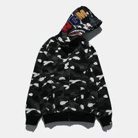 leichte tarnung großhandel-Marke Mens Hoodie Haikopf Sweater Designer Hoodie Street Hip Hop Nachtlicht Camouflage Hoodie Sweater Coat Couple