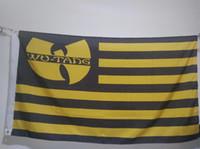 Wholesale Hip Cm - Wu Tang Clan Flag 90 x 150 cm Polyester Super Fan HIP-HOP Music Banner