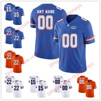 Wholesale florida gators jersey xl - Custom New Florida Gators College Football royal blue orange white Personalized Stitched Any Name Number #15 Tebow 22 Smith Jerseys S-3XL