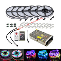 Wholesale Best Led Strip Lights - Best 6803 IC Led Strips Light 5m 10m 20M 30m 150LED IP67 waterproof SMD 5050 RGB dream magic color LED Strip+ controller + Power Supply