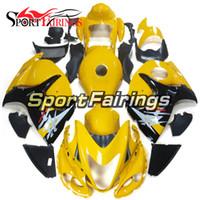sarı siyah hayabusa fairing toptan satış-Suzuki GSXR1300 Hayabusa Yıl 2008-2016 için ABS Enjeksiyon Motosiklet Kaporta Yüksek Kaliteli Fairing Motosiklet Hulls Sarı Siyah