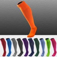 Wholesale grey over knee socks - 10 Styles Soccer Socks Unisex Over Knee Sport Sock Football Socks Anti-Skid Running Stockings free size Support FBA Drop Shipping G466Q
