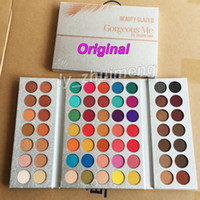 ingrosso top palette di trucco-Makeup Eyeshadow Palette Beauty Glazed 63 Colori Gorgeous Me Eye shadow Vassoio in polvere pigiato shimmer opaco ombretto Cosmetici Top Quality
