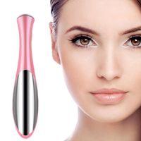 massage facial pen NZ - Electric Eye Massager Skin Beauty Care Mini Massage Device Facial Vibration Thin Face Magic Stick Anti Bag Pouch &wrinkle Pen Free Shipping