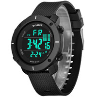Wholesale famous electronics - DHL SYNOKE Luxury Top Brand Sport Watches Men Famous LED Digital Watch Male Electronic Wrist Watch Clock Hodinky Relogio Masculino 9658
