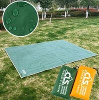 Wholesale tents rain - Outdoor camping cloth moistureproof tarpaulin tent picnic mat awning canopy canopy large rain cover pad Household Sundries GGA376 5PCS