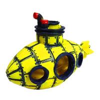 Wholesale housing bubble - Hot Sale Yellow Resin Bubbles Submarine Aquariums Decorations Home Ornaments Fish Tank Cave House Craft Artware