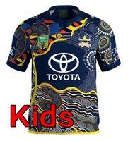 Wholesale Boys Cowboy Shirt - 2018 NRL JERSEYS QUEENSLAND COWBOYS Top Quality North Queensland Cowboys kids 2017-2018 Rugby Jersey Melbourne children Shirts