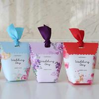 ingrosso scatole di caramelle per matrimoni-Matrimonio Contenitore di caramelle europeo Matrimoni creativi Sacchetto di zucchero Confezione regalo Cerimonia Scatole di imballaggio Sacchetti di cioccolato per feste 0 37dh2 ff