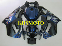 ingrosso zx12r blu-Kit carenatura iniezione per KAWASAKI Ninja ZX12R 00 01 ZX 12R 2000 2001 ABS blu nero Carenatura + 7 regali KX03
