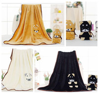 Wholesale flannel swaddle - Cartoon Baby Blankets Flannel Carpets Cute Animal Akita blanket rabbit Swaddling Kids Air Condition Blankets 80*100cm KKA4128