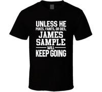 Wholesale shirt samples for sale - James Sample Keeps On Going Unless Jacksonville cotton casual printing short sleeve men T shirt men T shirt o neck