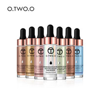 colores magicos cosmeticos al por mayor-6 colores O.TWO.O Cosmetic Brand Liquid Highlighter Maquillaje para mujer Magic Face Brighten Glow Glitter Maquillaje High light Kits 15ml