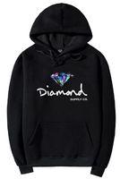 s logo diamond venda por atacado-2018 Diamante Co Fornecimento Quente Hoodies Dos Homens Clássico Fundação Logotipo Do Diamante Hoodies Cinco Cores diferentes Com Bolso