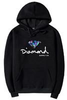 s logo diamante al por mayor-2018 Diamond Supply Co sudaderas con capucha para hombre calientes Logotipo clásico de la fundación del diamante sudaderas con capucha cinco colores diferentes con bolsillo