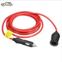 Wholesale 12v adapter leads resale online - 12V V M Car Cigarette Lighter Extension Cable Cigarette Lighter Plug Adapter Socket Charger Lead Cord Wire