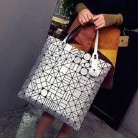 Wholesale Bill Hands - 2017 new Japanese folding geometry lingge lightning matte lady bag hand bill of lading shoulder diagonal bag