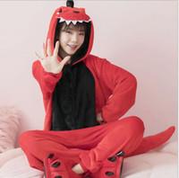 3c28ca907e Venta al por mayor Animal Red Dinosaur Cheese gato Onesie Adulto Unisex  Traje de Cosplay Pijamas ropa de Dormir Para Hombres Mujeres Kigurumi  Pijamas