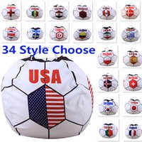Wholesale Stool Plastic - Russian World Cup Storage Bag Children's Toys Animal Football Fan Stool Blanket Clothing Organization Bags 26 inch 34 Styles WX9-548