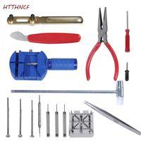 kit de reparación de baterías al por mayor-El kit de herramientas de reparación de relojes HTTHNCF de 16 piezas remueve las bandas de la batería Enlaces Destornilladores Abrebotellas