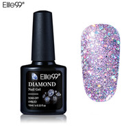 gel manicura brillo al por mayor-10 ml Diamond Nail Gel Glitter LED UV Gel Manicure Lentejuelas Brillantes Soak Off Gel Esmalte Uñas Vernis Semi Permanente Gellak