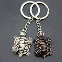 Wholesale yak jewelry for sale - Group buy Jewelry Lovely turtles mother and child Keyrings Imitation Yak Bone tortoise Keychains Car Key Rings for men women gifts